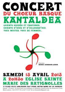 concert 13 avril aux batignolles